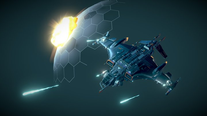 "Star Conflict Command Fighter ""Granite"" 3D Model"