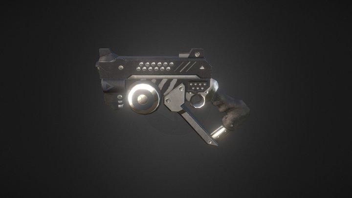 Manta I-5 Scifi  Pistol 3D Model
