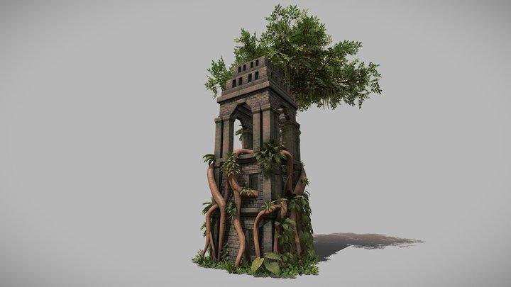 Nature Taking Over 3D Model