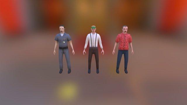 Lo-Fi character models 3D Model