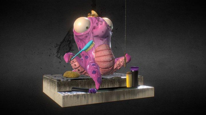 Monster Alien shower 3D Model
