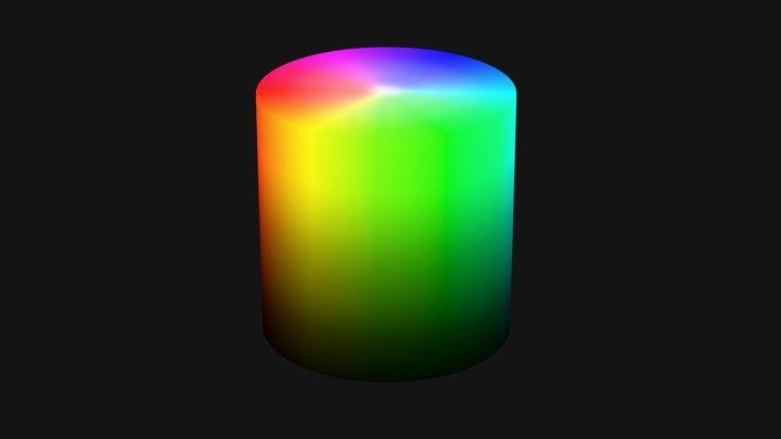 Color model HSV 3D Model