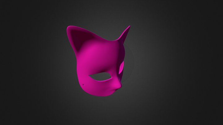 Gatto Rombi Mask With Hole 3D Model