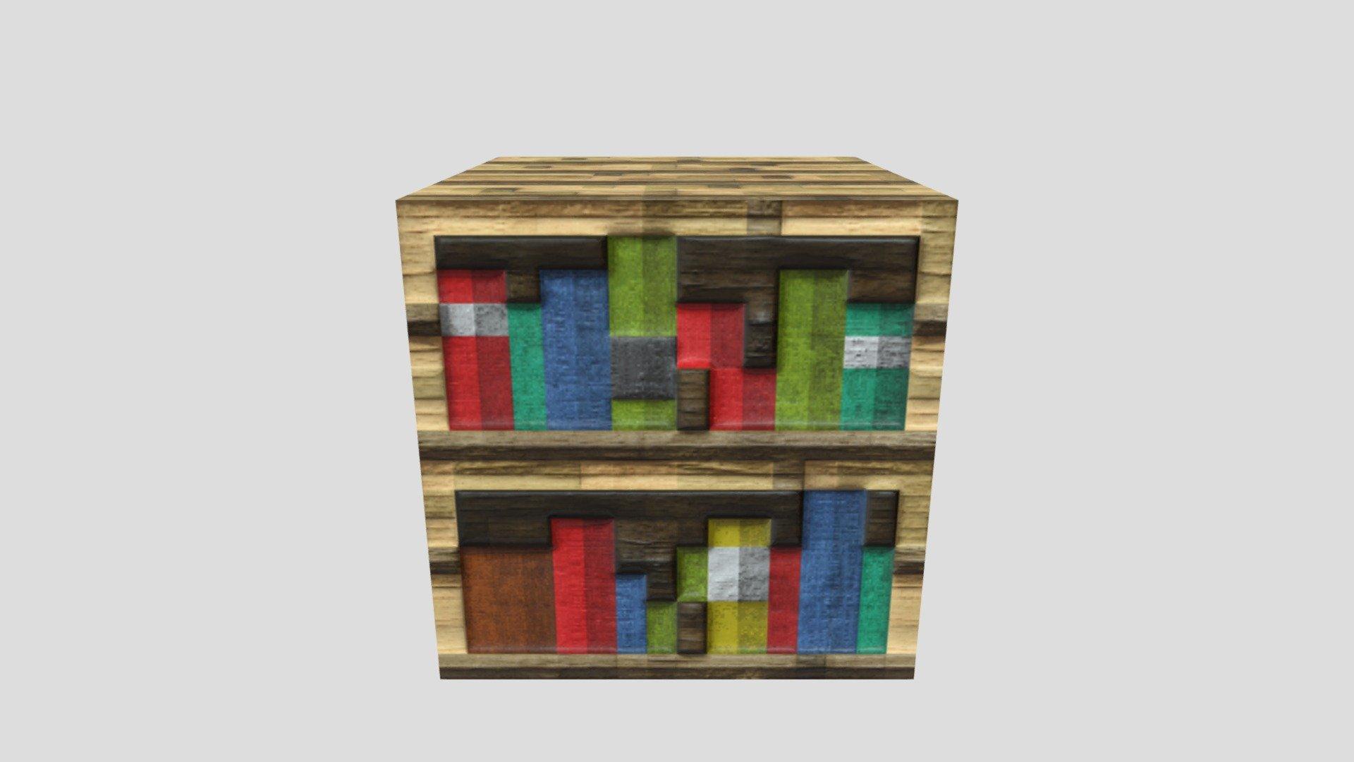 Minecraft Bookshelf   Download Free 20D model by HRalsei HRalsei ...
