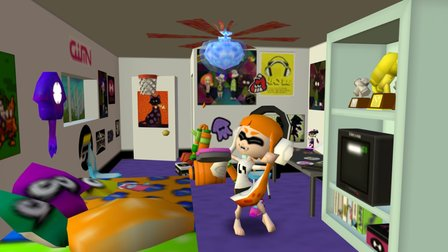 Splatoon-Inkling Rooms 3D Model