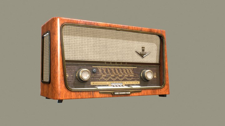 Degen - Old Radio 3D Model