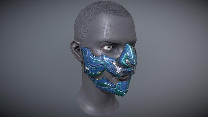 Fenrira Operator Mask [Warframe Tennogen] 3D Model