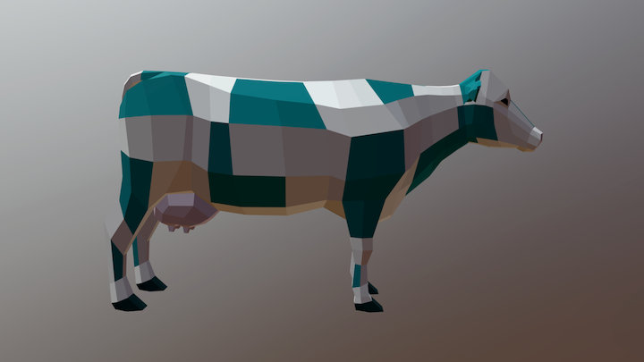 Low-poly cow - neutral pose 3D Model