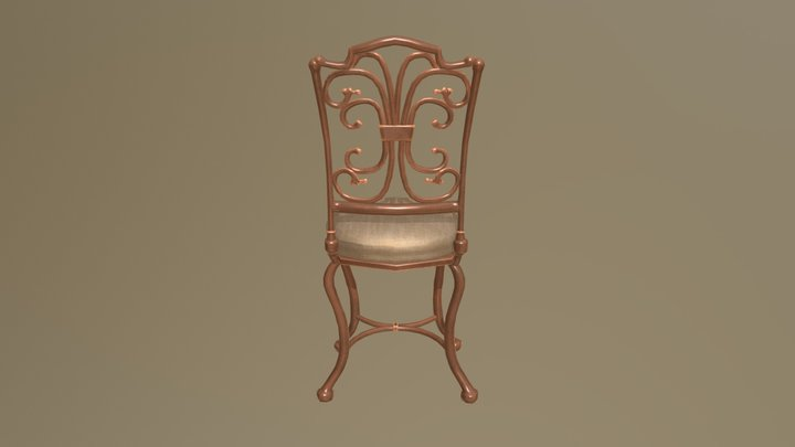 Curly Chair 3D Model