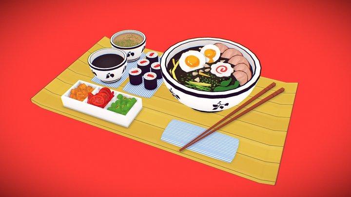 Udon Meal 3D Model