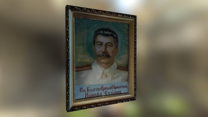 Icon of Stalin 3D Model