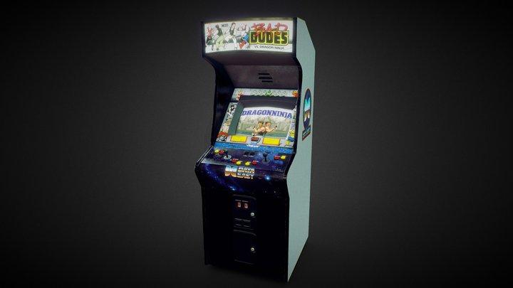 Bad Dudes vs Dragon Ninja Arcade Machine 3D Model
