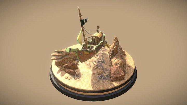 Player's boat (imaginary) 3D Model