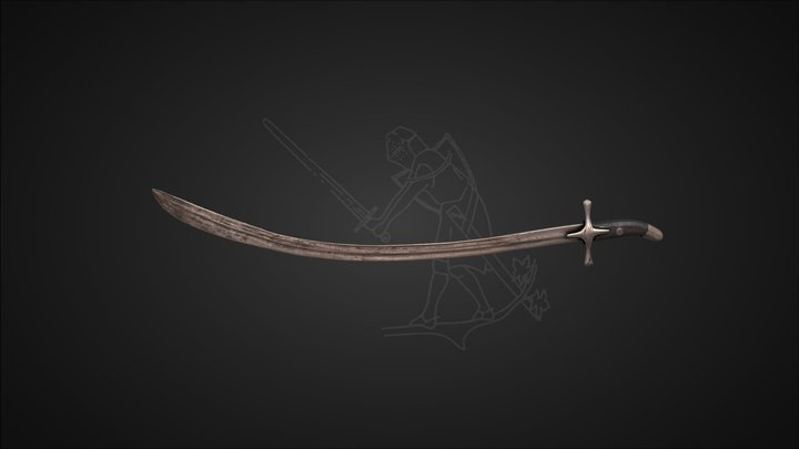 16th-17th Century Saber 3D Model