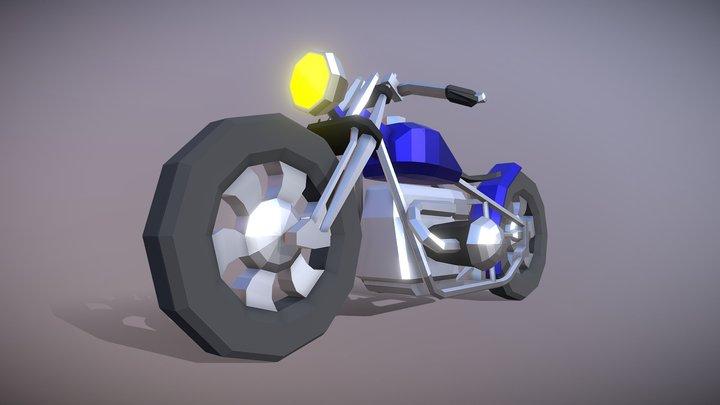Low Poly Chopper 3D Model