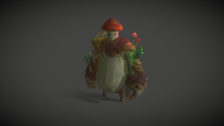MushroomMan 3D Model