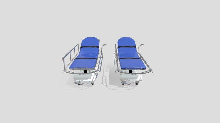 Gourney - Hospital Bed 3D Model