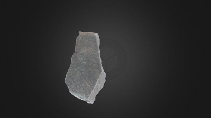 placa grabada 3D Model