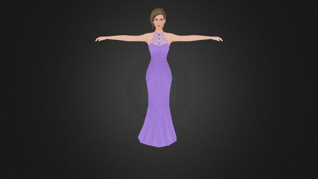 Female_GownTexture 3D Model