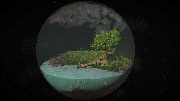 Space Lake 3D Model