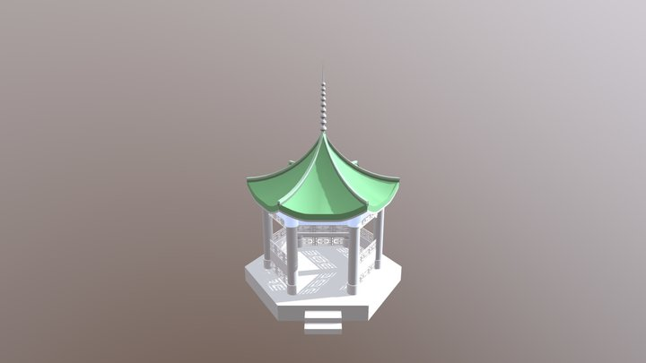 Tented Roof 3D Model