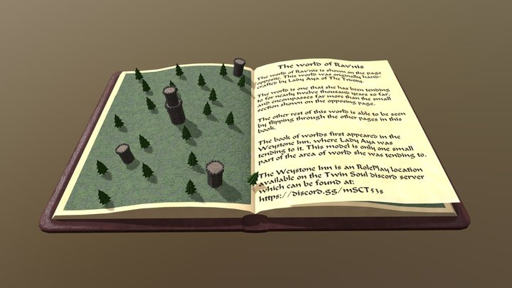 The Book of Worlds 3D Model