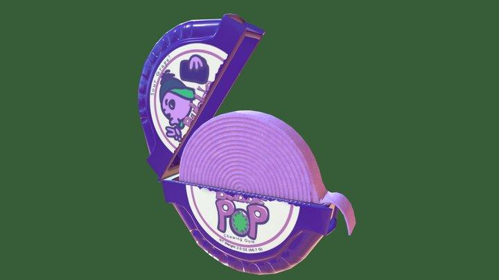 Bubble Pop Chewing Gum Tape Dispenser 3D Model