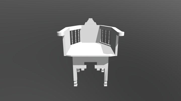 High Poly Chair 3D Model
