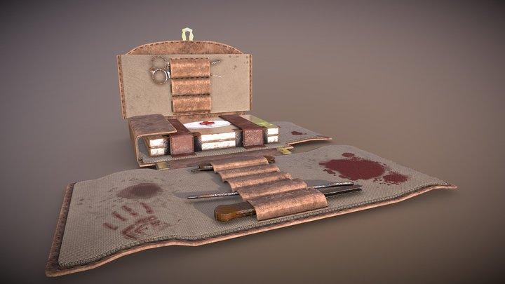 Bloodied Medical Bag 3D Model