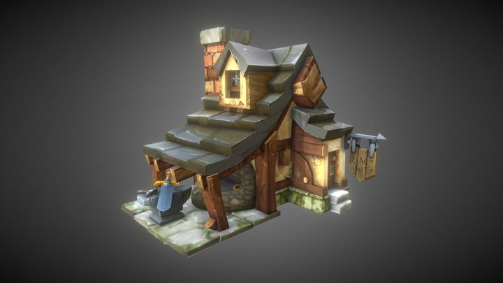 Blacksmith shop 3D Model