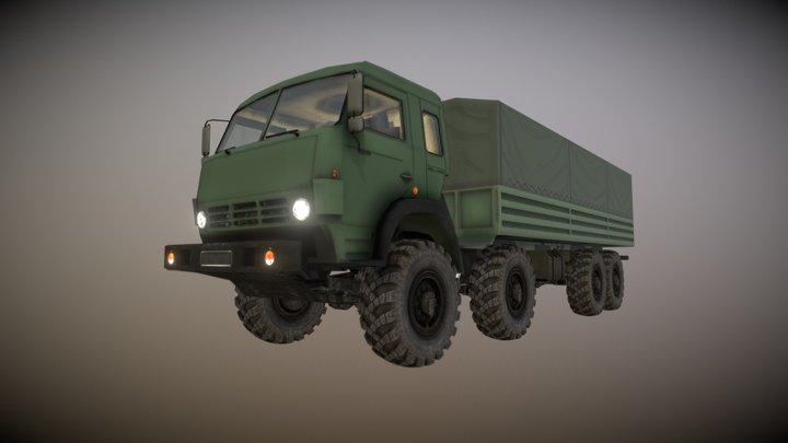 Kamaz8x8 Bort AS SF 3D Model