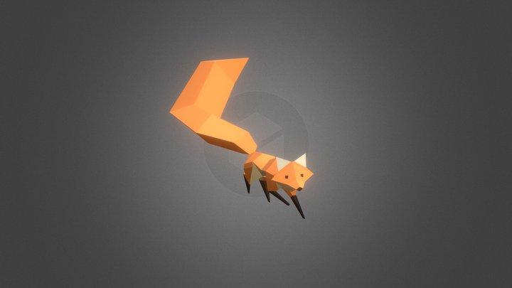 Lowpoly Fox 3D Model