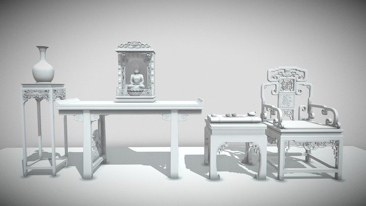 Chinese Buddhism 3D Model