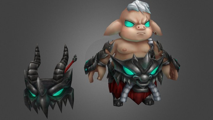 豬八戒 3D Model