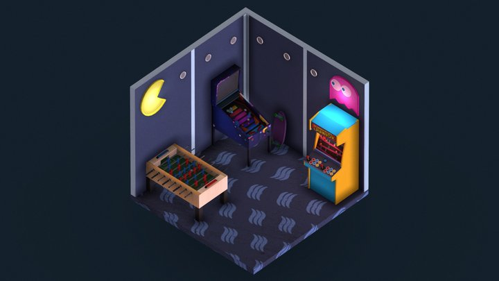 [Low Poly] Arcade Room 3D Model