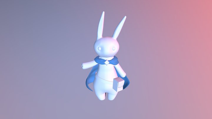 Magician Rabbit 3D Model