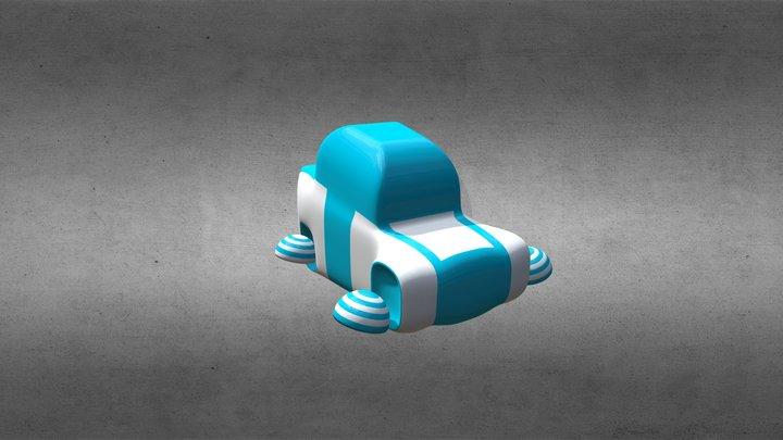 Futuristic cartoon car (Pizzabot) 3D Model
