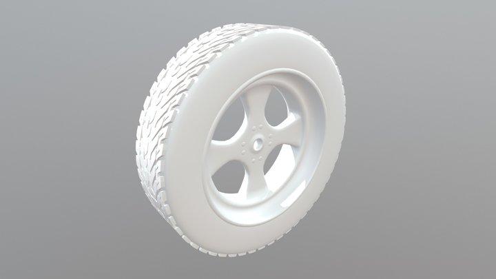 Modeling A Wheel 3D Model