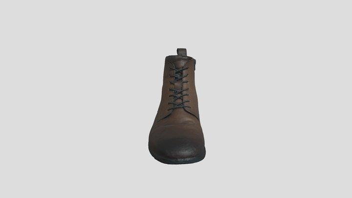 Men Leather Boot 3D Model
