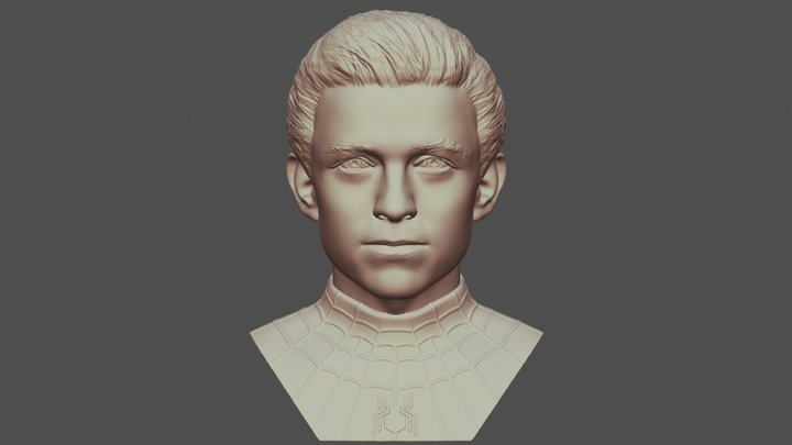 Spider-Man Tom Holland bust for 3D printing 3D Model