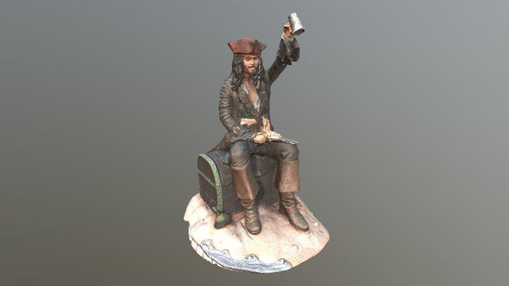 Jack Sparrow statue 3D Model