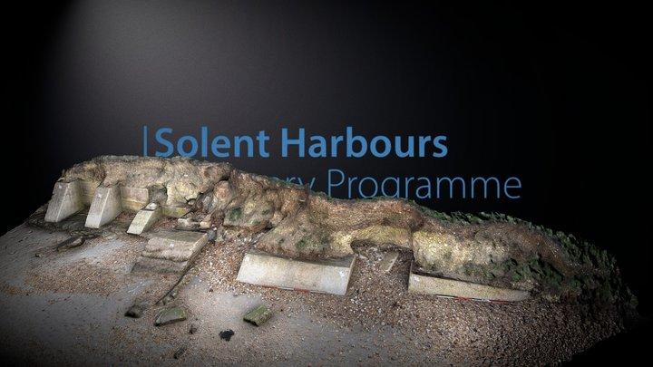 Hayling island -  Eroding bank & Pheonix Slip 3D Model