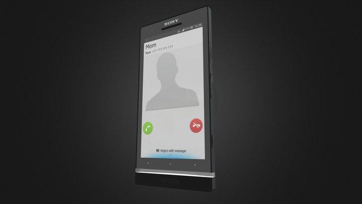 Sony Experia S 3D Model