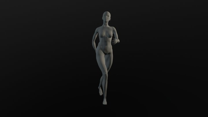 Female walking 1 3D Model