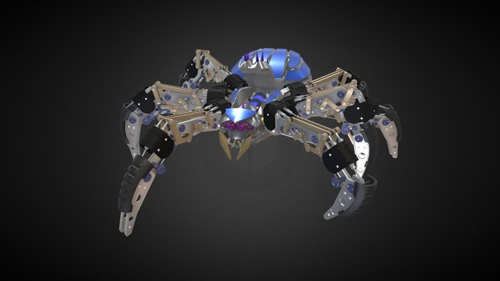 Robo Spider ditaild anatomy draft 3D Model