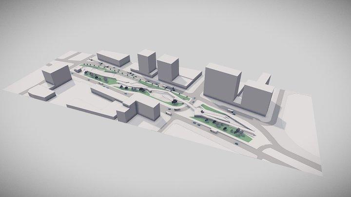 Proyecto Estación Viña del Mar - Opción A 3D Model