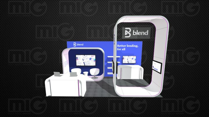 Blend-10x20 Booth PODS v01 JJM 3D Model