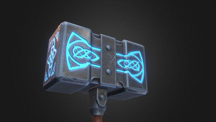 Hammer Stylized 3D Model