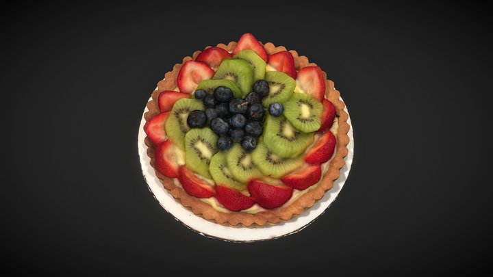 — 30% OFF — FRUIT TART 3D Model