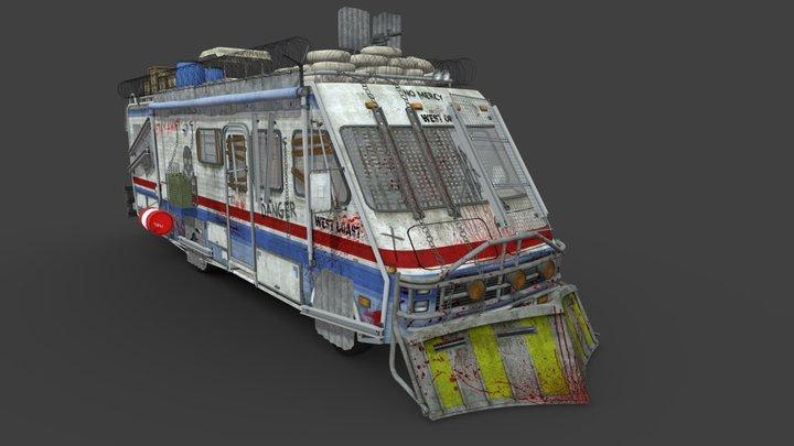 Apocalypse vehicle - Motorhome 3D Model